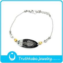 les bracelets bon marché gravés font votre propre logo bracelet en acier inoxydable bracelet prix mens