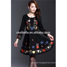 Hochwertige Baumwoll-Polyester-modische lange Hülse Elegante Strickjackeentwürfe für Damen