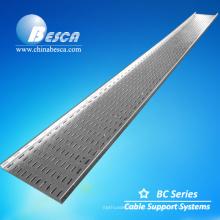 GI Bandeja de cable perforada de fabricación 100x15 mm en China