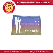 Leather label reflective garment labels