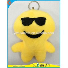 Hot Selling High Quality Novelty Design Yellow Figure Pillow Keychain