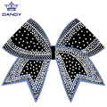 Diamantes de imitación personalizados Cheer Hair Bows