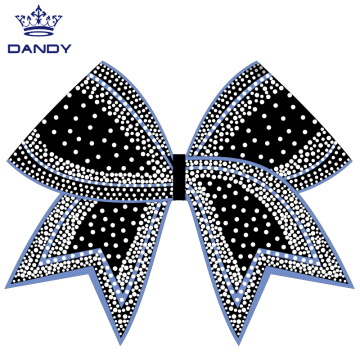 Anpassade strass Cheer Hair Bows