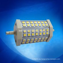 360 grados los 118MM 10W LED R7S substituyen el bulbo de lámpara halógeno del doble terminado