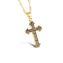 Women cross necklace,thin gold sideways cross necklaces jewelry