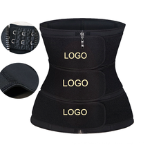 Custom Logo Slimming Steel Bone Waist Trainer Belt with Hooks Zippers