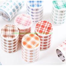 Die-Cutting Plaid DOT Design Washi Paper Tapes