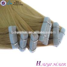 Nuevo estilo caliente de la venta de calidad superior 100 Remy piel trama Pu pegamento Virgen cinta en extensiones de cabello