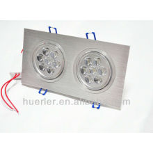2 têtes 7 * 1W AC85-265V 14led 14w led downlight fabricante