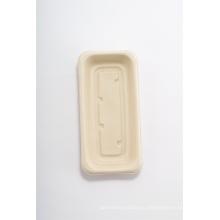 сахарный тростник 8-дюймовая одноразовая бумажная тарелка для сервировки еды