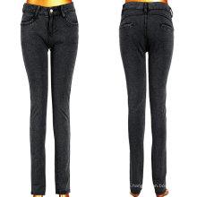 Lange klassische schwarze Dame Stretchy Jeans