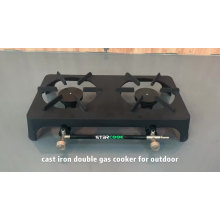 Heavy duty cast iron barbeque gas grill
