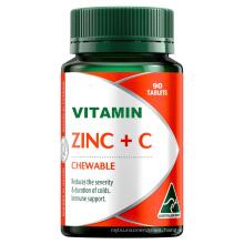 Zinc + Liposomal Vitamin C Tablets - 90 Ct Supports Immune System