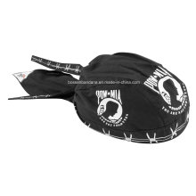 OEM Produce Customized Logo Impresso Promocionais Black Cotton Biker Skull Hat Caps