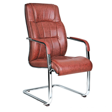 fashion design mid back modern brown leather office chair description