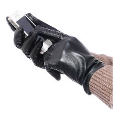 Luvas de tela de toque de pele de carneiro de moda masculina (yky5192)
