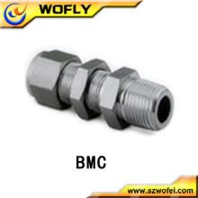 AFK Acessórios para tubos de aço inoxidável Bulkhead Male Connectors for Gases