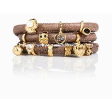 Fashion Charm Bracelet en cuir Bijouterie