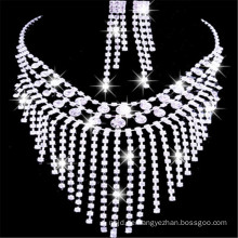 Alibaba Großhandel runde Schmuck Halskette zusammen mit Ohr Ohrstecker