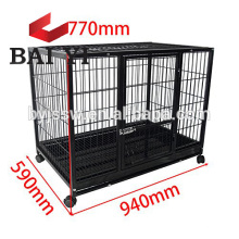 Factory Design Dog Cage With Big Wheels