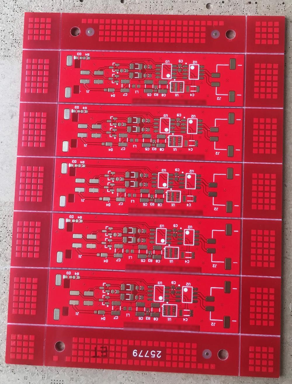 2 layer Red solder PCB