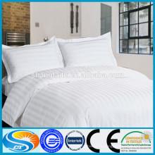 En tissu de coton d'hôtel housse de lit blanc