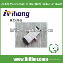 SC adaptador de fibra óptica de metal simplex