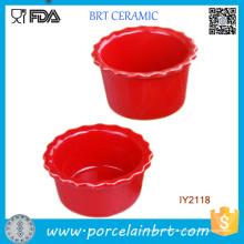 Оптовая Торговля Посудой Керамический Красный Пудинг Плесень Посуда