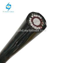 0.6 / 1kv Solid Aluminium Kupfer Kommunikationskabel Concentric Split einphasig mit Aluminium neutral Antenne Service Kabel 16mm2