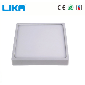 Panel de luz LED cuadrado integrado montado en superficie de 15w