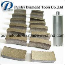 Sintered Electroplate Reinforced Concrete Diamond Core Drill Bit Segment