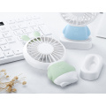 Recarregável LED Light Handheld portátil USB Mini Fan