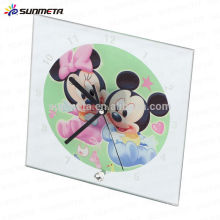 High Quarlity Sublimation Glass Photo Frame can be used for clock