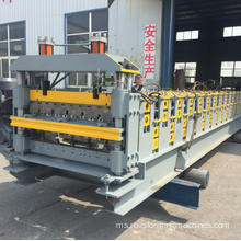 Double layer roofing making machine