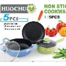 5PC Aluminium Non-Stick Kochgeschirr Set