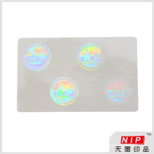 Low cost 84*52mm adhesive transparent id hologram sticker