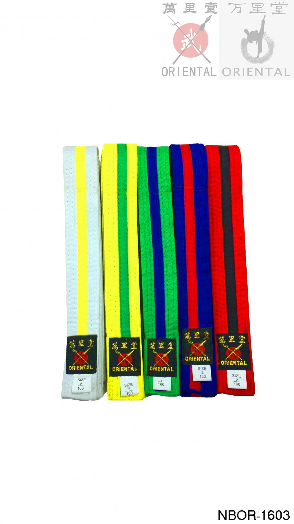 4cm colorful belts in taekwondo