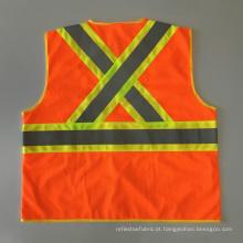 Canadá CSA Z96 contraste cor colete de segurança reflexivo com fita reflexiva de advertência