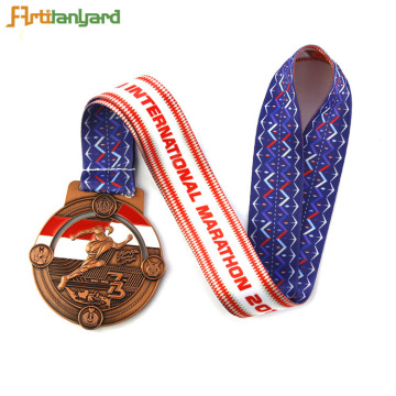 School Professional Ribbon 3D Award Metallmedaille