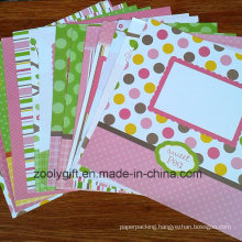 Decorative 12 X 12 DIY Baby Scrapbook Designer Paper