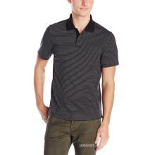 Das gestreifte Polo-Hemd der Soem-Großhandelsart und weisegewohnheit Männer