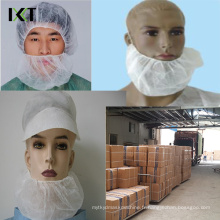 Masque jetable non tissé de barbe avec de doubles élastiques Kxt-Nbc03