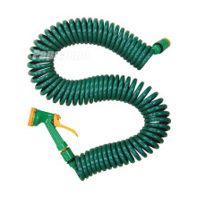 EVA Coil Garden Water Hose with Hose Nozzle Assembly
