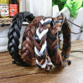 Handmade Adjustable Vintage Wristband Leather Rope Woven Couple Bracelet Tribal Braided Cuff Bangle