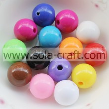 Colorful Acrylic Crystal Round Beads Ball With Opaque Color