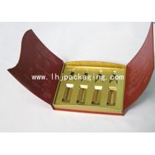 Alta Qualidade Ouro Arco Cosméticos Embalagem Caixa De Papel Com Foil Stamping