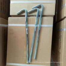 Heavy Duty Metal Steel PEG y clavijas de la tienda de tierra para el mercado del Reino Unido y la UA