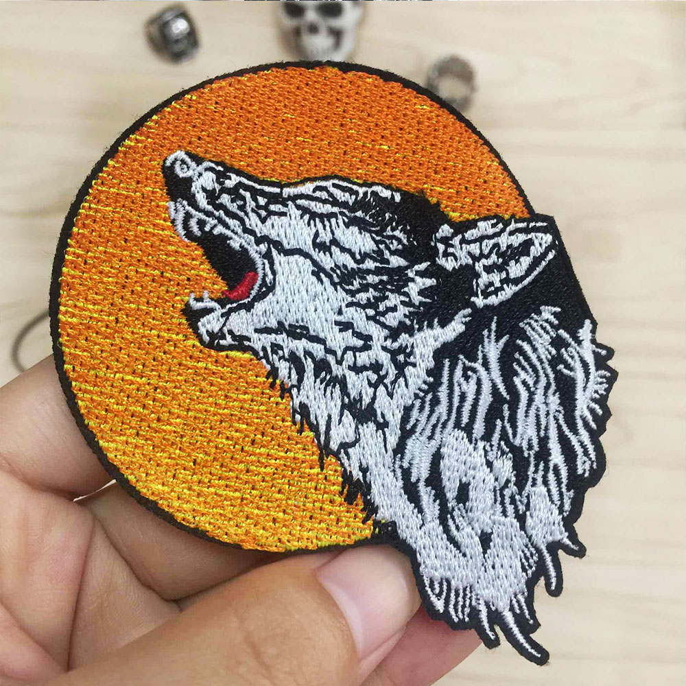 Moon Iron On Embroidery Patch