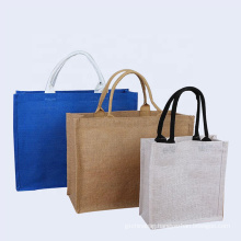 foldable reusable eco-friendly tote bags pure linen folding shopping bag with logo