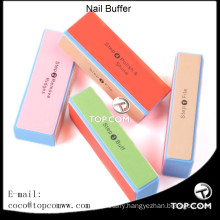 4 Way Colorful Nail Art Buffer Buffing Sanding square Block Files